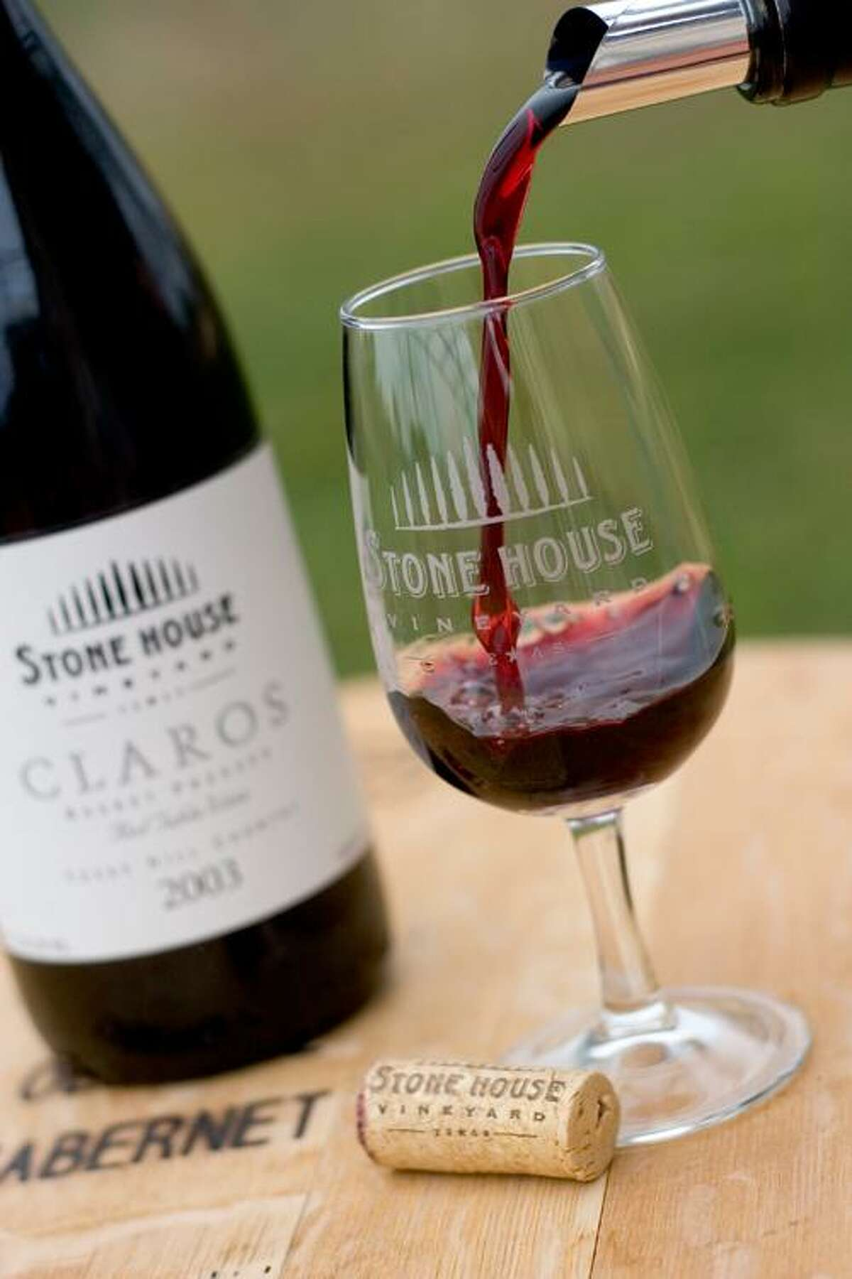 Claros, one of the signature wines of Stone House Vineyard