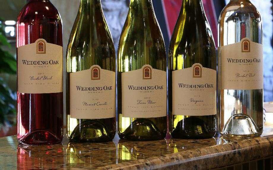 A selection of wines from Wedding Oak Winery Photo: Courtesy Wedding Oak Winery