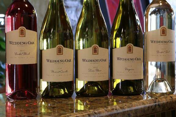 A selection of wines from Wedding Oak Winery