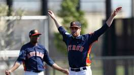 Collin McHugh has been able to long-toss but has yet to throw off a mound this spring.