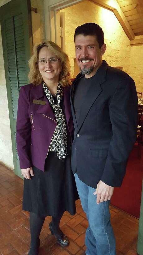 "The Ecumenical Center for Religion and Health announced a $1.6 million state grant from the Texas Health and Human Services Commission Tuesday at a ceremony featuring Army veteran Kris Paronto (right) with Mary Beth Fisk (left), CEO of the center. Paronto was a security contractor involved in the Sept. 11, 2012 attack on the U.S. embassy in Benghazi, Libya. ""Veterans have to be able to take a step back, utilize those resources, and get help,"" said Paronto, who said he dealt with post-traumatic stress beginning in 2007. ""You have to be able to ask for support when you feel in that low place, when the demons come in."" Photo: /J.p. Lawrence, Express News"