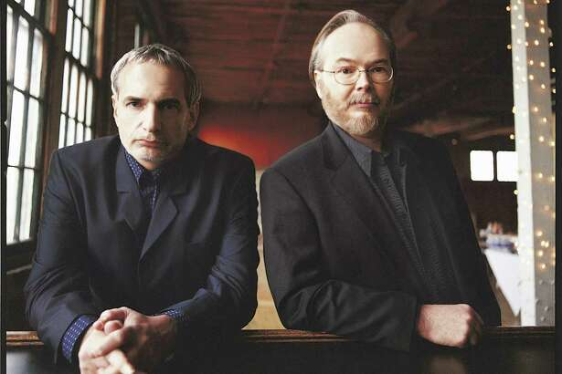 Steely Dan — Donald Fagen, left, and Walter Becker — will headline the Greenwich Town Party in May.