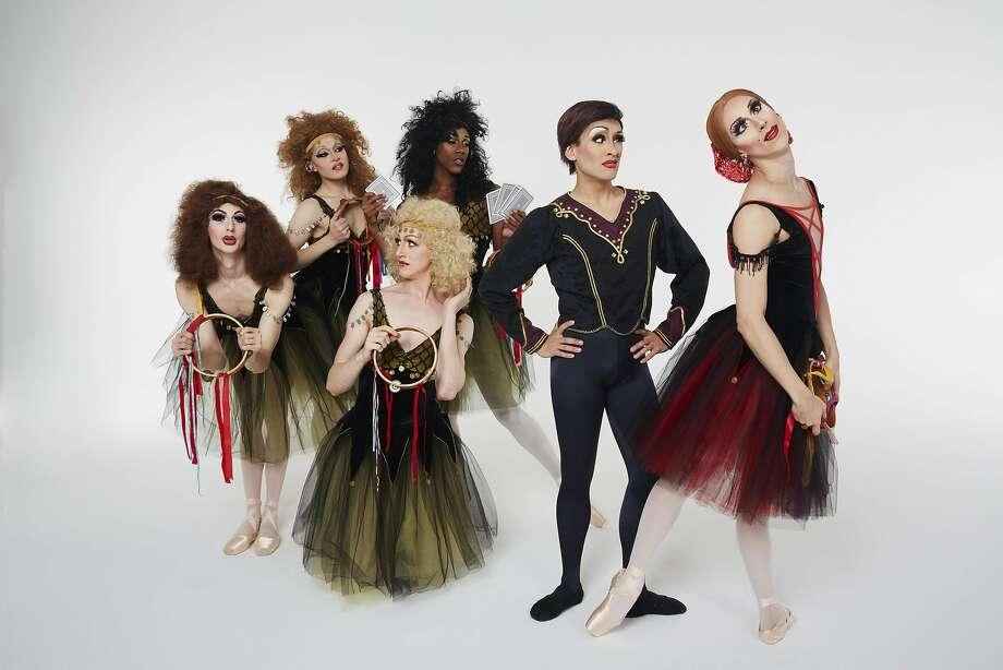 "Members of Les Ballets Trockadero de Monte Carlo dance in their version of ""Esmeralda"" at Berkeley's Zellerbach Hall. Photo: Zoltan Jelenic"