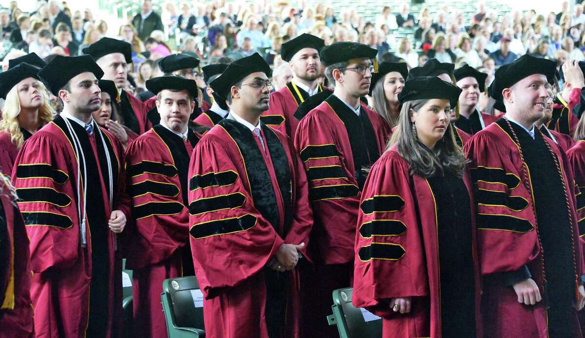 Albany Law School graduates during Commencement Ceremonies at Saratoga Performing Arts Center on Friday, May 15, 2015, in Saratoga Springs, N.Y. (John Carl D'Annibale / Times Union archive)