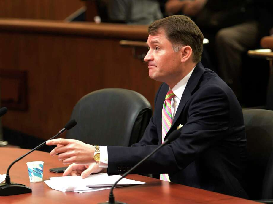 Jason Helgesson, State Medicaid director and deputy commissioner, Department of Health, addresses a public hearing on home care workforce on Monday, Feb. 27, 2017, at the Legislative Office Building in Albany, N.Y.  (Skip Dickstein/Times Union) Photo: SKIP DICKSTEIN / 20039820A
