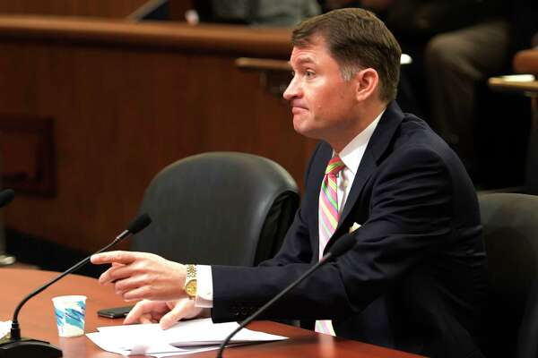 Jason Helgesson, State Medicaid director and deputy commissioner, Department of Health, addresses a public hearing on home care workforce on Monday, Feb. 27, 2017, at the Legislative Office Building in Albany, N.Y.  (Skip Dickstein/Times Union)
