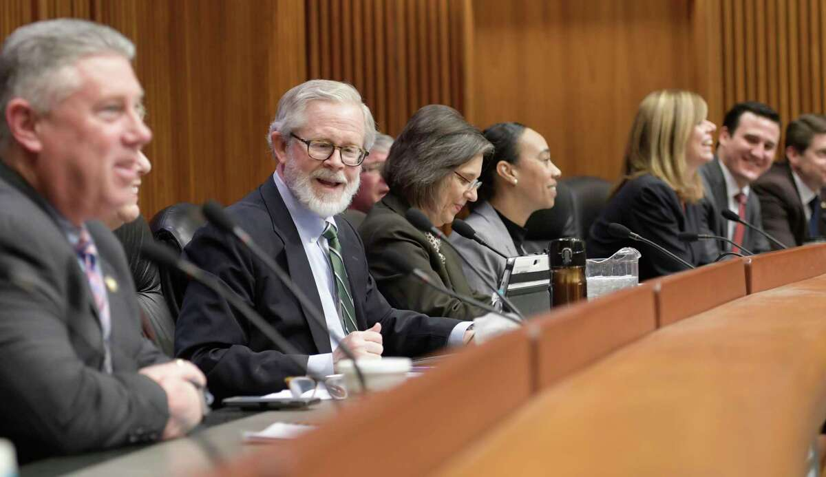 Assembly member Richard N. Gottfried, center chairs a public hearing on home care workforce on Monday, Feb. 27, 2017, at the Legislative Office Building in Albany, N.Y. (Skip Dickstein/Times Union)