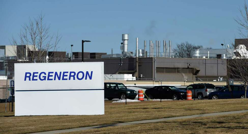 Exterior view of the Regeneron East Greenbush plant on Thursday, Feb. 18, 2016, in Rensselaer, N.Y. (Skip Dickstein/Times Union) ORG XMIT: MER2016021815410075