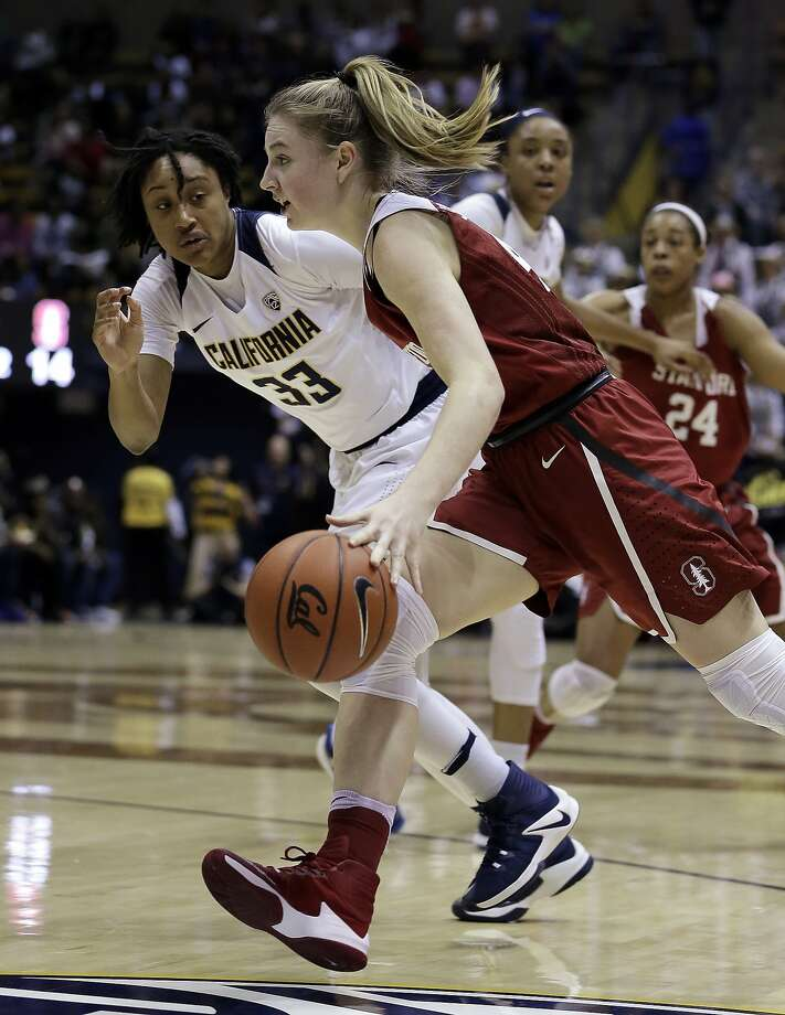Cal's Jaelyn Brown (left) sees a bright future for the Bears. Photo: Ben Margot, Associated Press