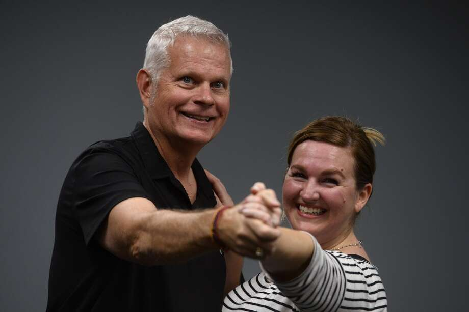 Roy West and Katie Whitney Celli rehearse their dance routine for the Dancing with the Stars of Southeast Texas at Bonnie Cokinos School of Dance, Wednesday, Jan. 25. The competition is a fundraiser for the Junior League of Beaumont to be held Thursday, March 2.  Photo taken Wednesday 1/25/17 Ryan Pelham/The Enterprise Photo: Ryan Pelham/The Enterprise
