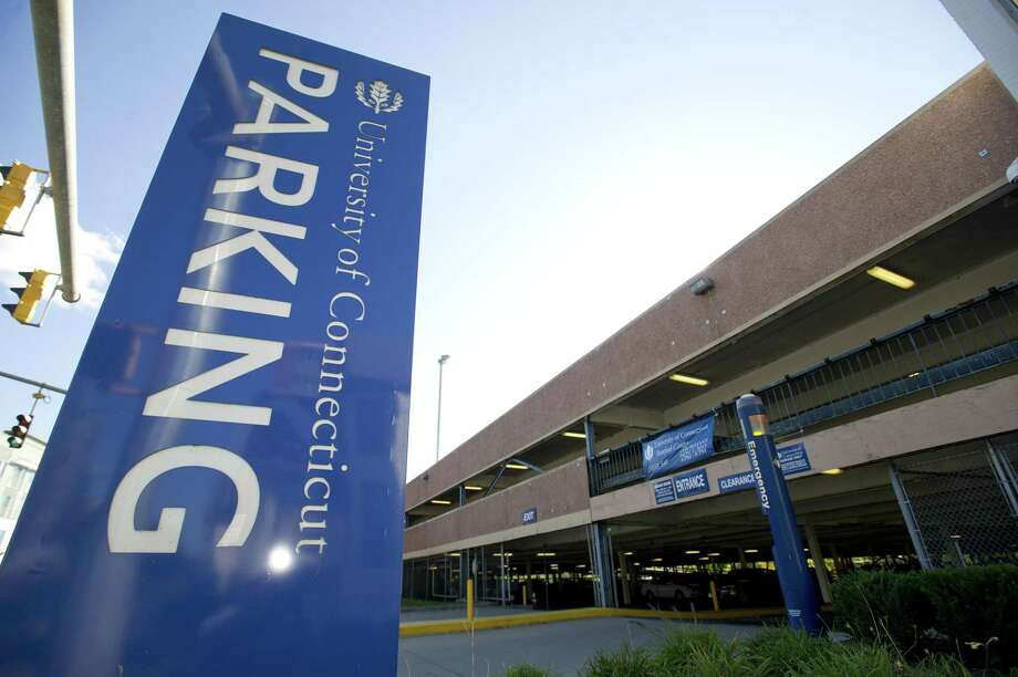 The University of Connecticut parking garage on Washington Boulevard in Stamford. Photo: File Photo / Stamford Advocate