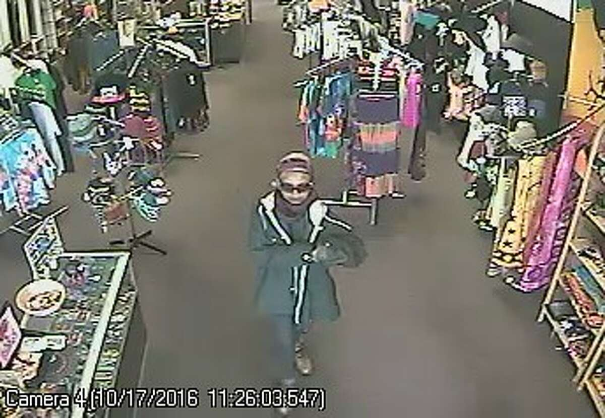 Colonie police released this image of a woman they say robbed the Deja Vu store on Wolf Road in October.