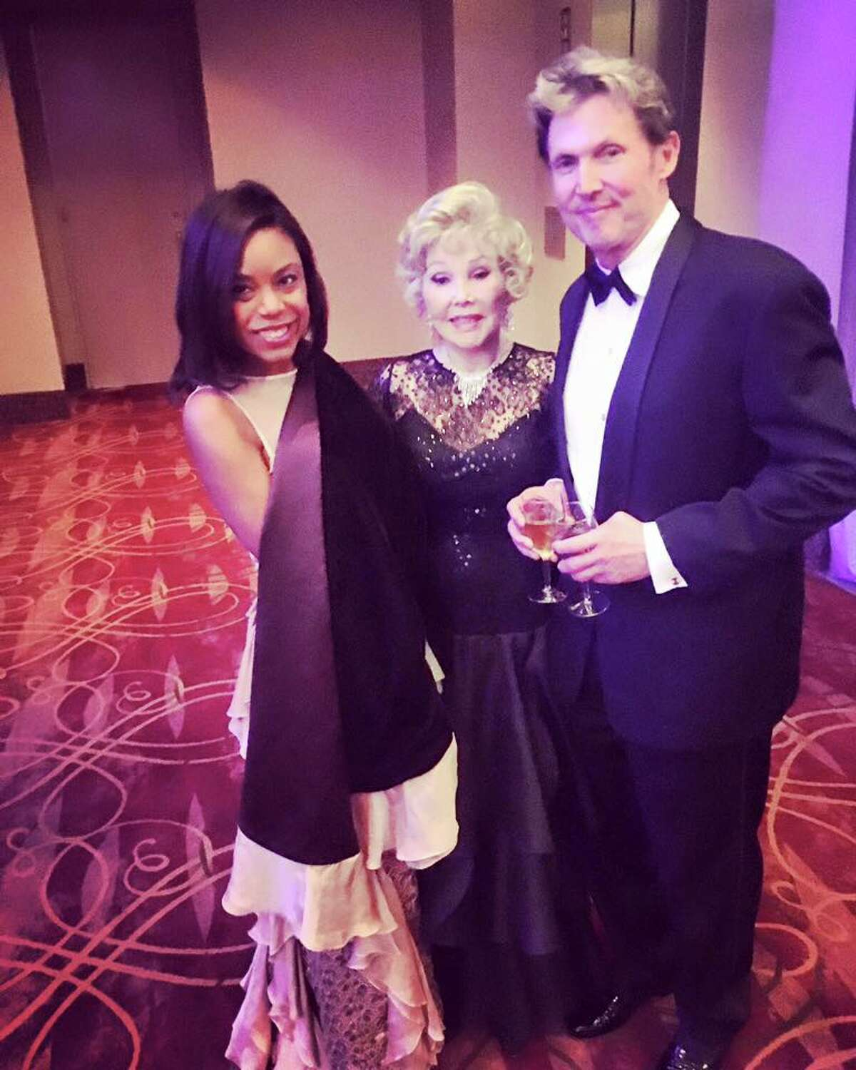 Amber Elliott, Joanne Herring, and Beau King at the Houston Ballet Ball