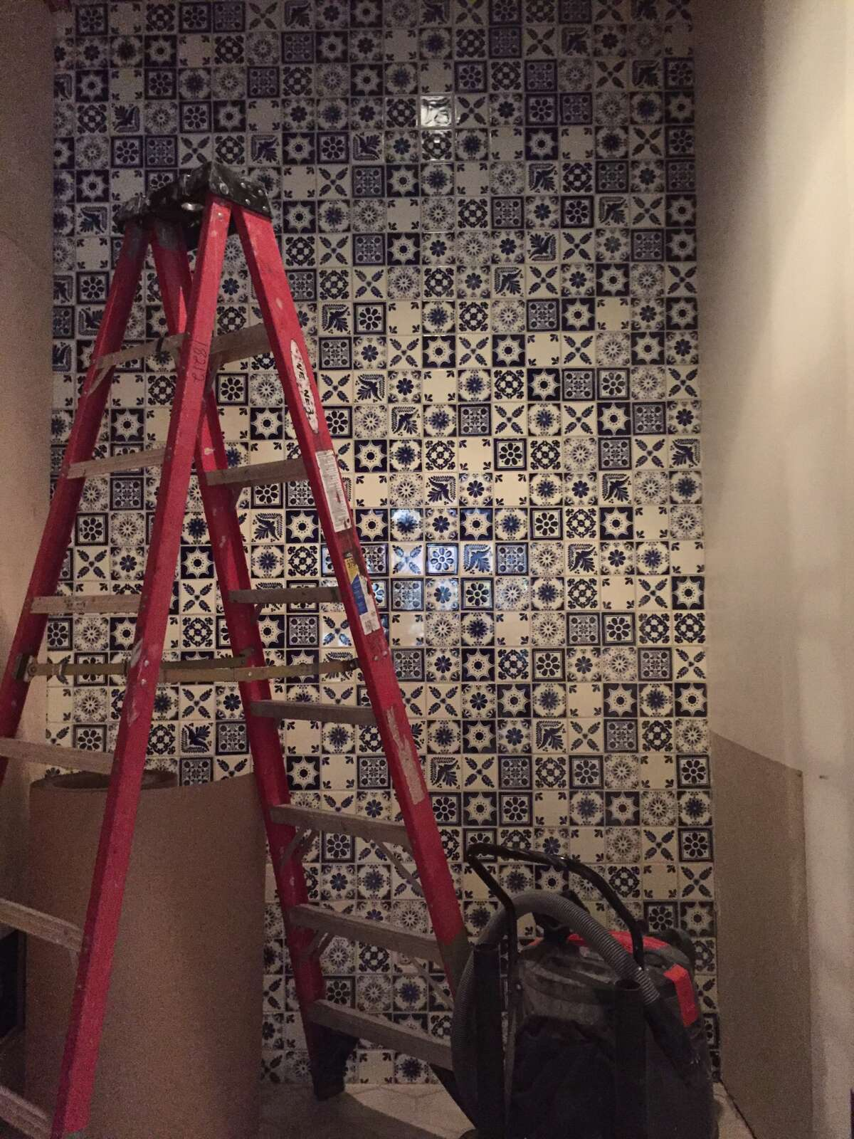 Spanish-style tiles at the soon-to-open Dorrregos restaurant