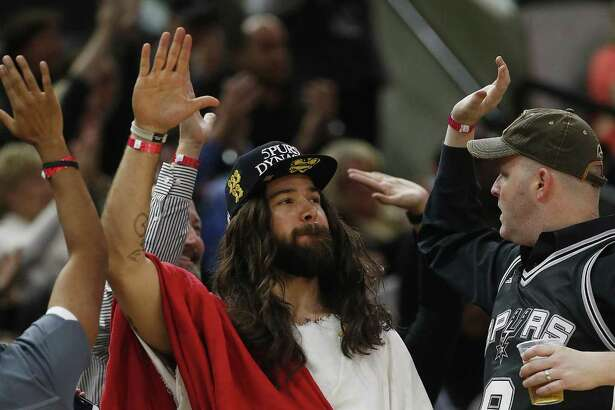 Spurs Jesus is in an especially giving mood for Lent in 2017. Starting Ash Wednesday the devout Spurs fan will give away tickets to Fiesta events, medals, Spurs gear and other goodies for 40 days through his Facebook and Instagram social media pages.