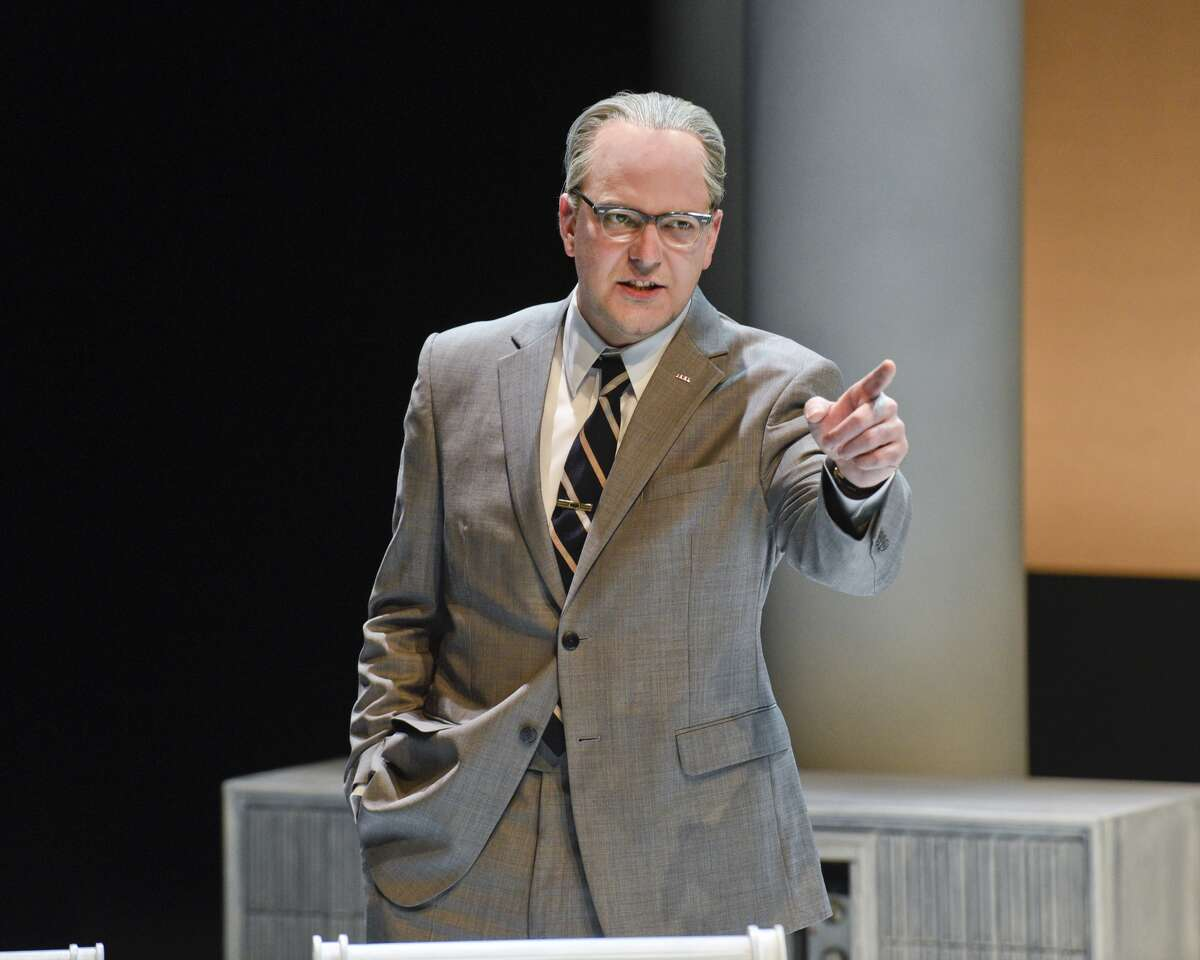 Brandon Potter as President Lyndon Baines Johnson in Alley Theatre's All the Way. Photo by Karen Almond.