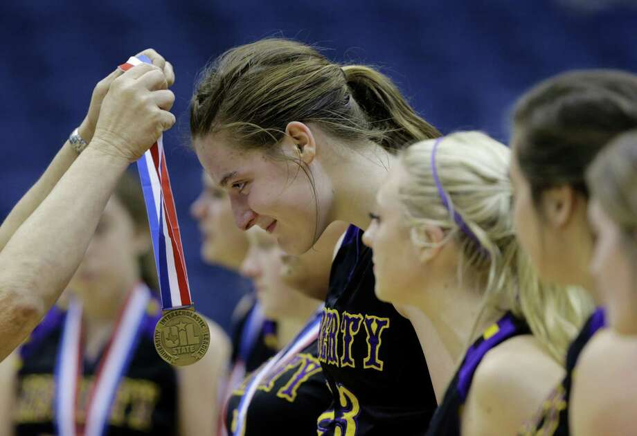 Liberty Hill's Sedona Prince (receiving medal) will play at Texas after finishing her high school career this weekend at the Alamodome. Photo: Eric Gay / Associated Press / AP