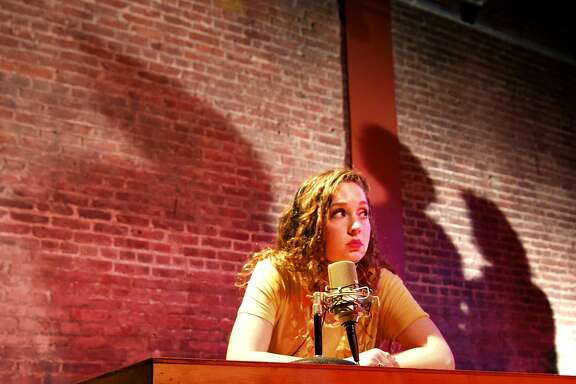 "The line between reality and fantasy blurs in the mind of Alexis Jones (Sarah Brazier) as she seeks to solve the mysterious death of 1960s journalist Dorothy Kilgallen in Exit Theatre's ""Kilgallen/Jones."""