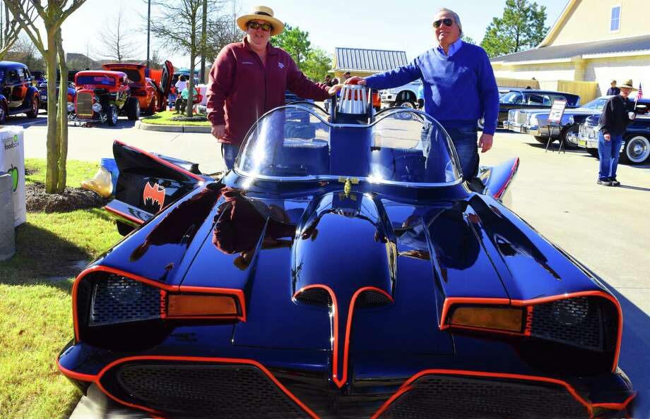 The Cypress Eighth Annual Heritage Towne Lake Car Show, Cypress, Texas, usa 2/18/2017 - 2/25/2017 ,Photographer : Tony Gaines  (L) Cindy and (R) John Risner show their 1966 BatMobile at the Cypress Eighth Annual Heritage Car Show Photo: Tony Gaines, Photographer