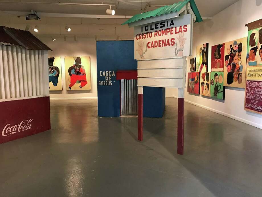 """A view of Lyle Carbajal's installation """"Romancing Banality,"""" which is on view through March 11 at Art League Houston. Photo: Molly Glentzer, Houston Chronicle"""
