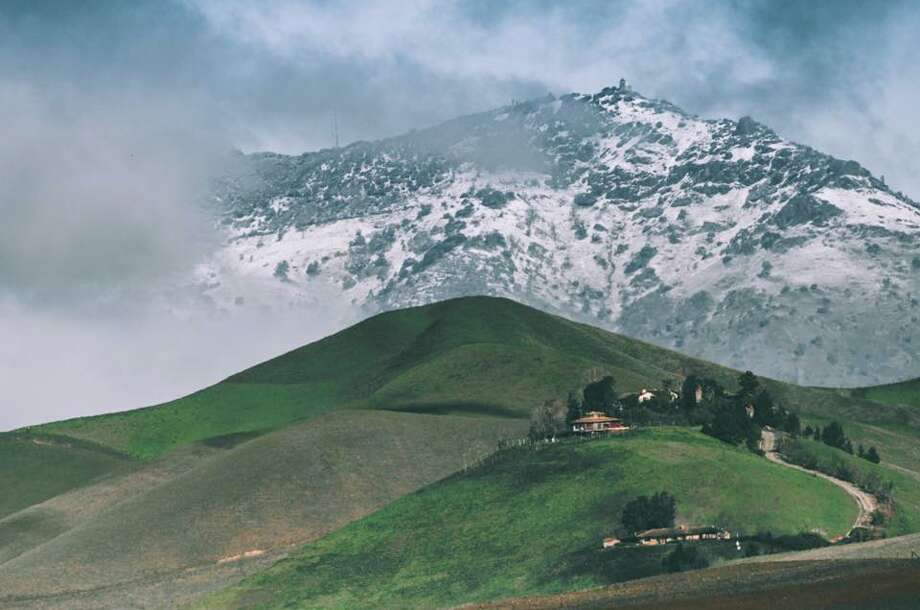 An image of Mt. Diablo on Feb. 27, 2017 after overnight snowfall. Photo: Euan Rannachan/Courtesy