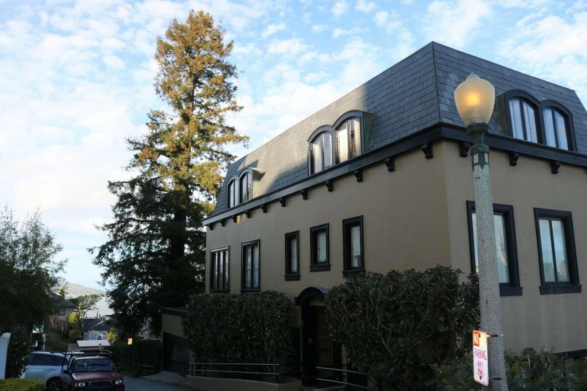 The redwood tree at 4 Montclair Terrace in San Francisco. (Kelly Swanson/Peninsula Press)