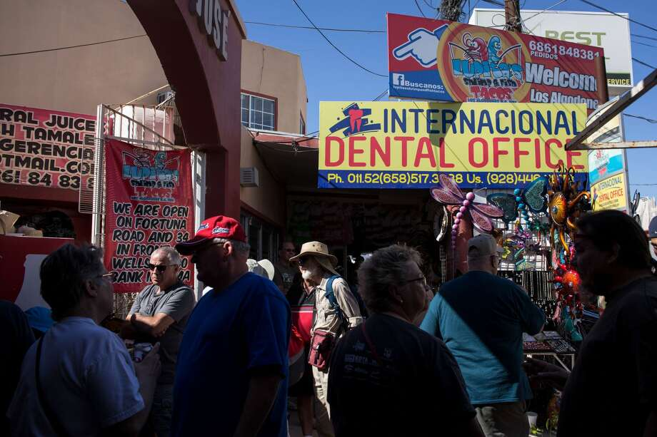 Los Algodones, near the US/Mexico border, has become known as Molar City due to the number of affordable dentists that reside in the city. See historical photos from the U.S.-Mexico border. Photo: GUILLERMO ARIAS/AFP/Getty Images