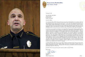 """In a letter to Gov. Greg Abbott sent Feb. 17, 2017, Salazar said his hands are tied and he'll continue holding inmates ICE wants to investigate because of threats to withhold state grants if he doesn't. The sheriff wrote that he has """"concerns about the Office of the Governor subjecting the state and local officials to the dictates of the federal government."""""""