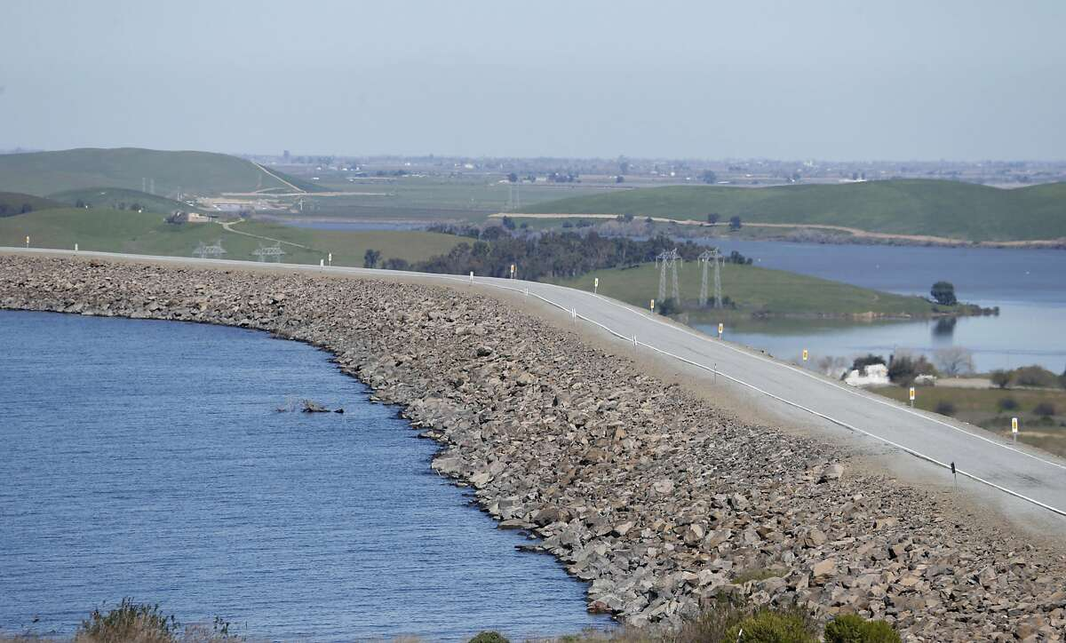The San Luis Reservoir is at nearly100 percent capacity in Gustine, Calif. on Tuesday, Feb. 28, 2017. To the right is the O'Neill Forebay. The federal Bureau of Reclamation announced water allocations for the Central Valley on Tuesday.
