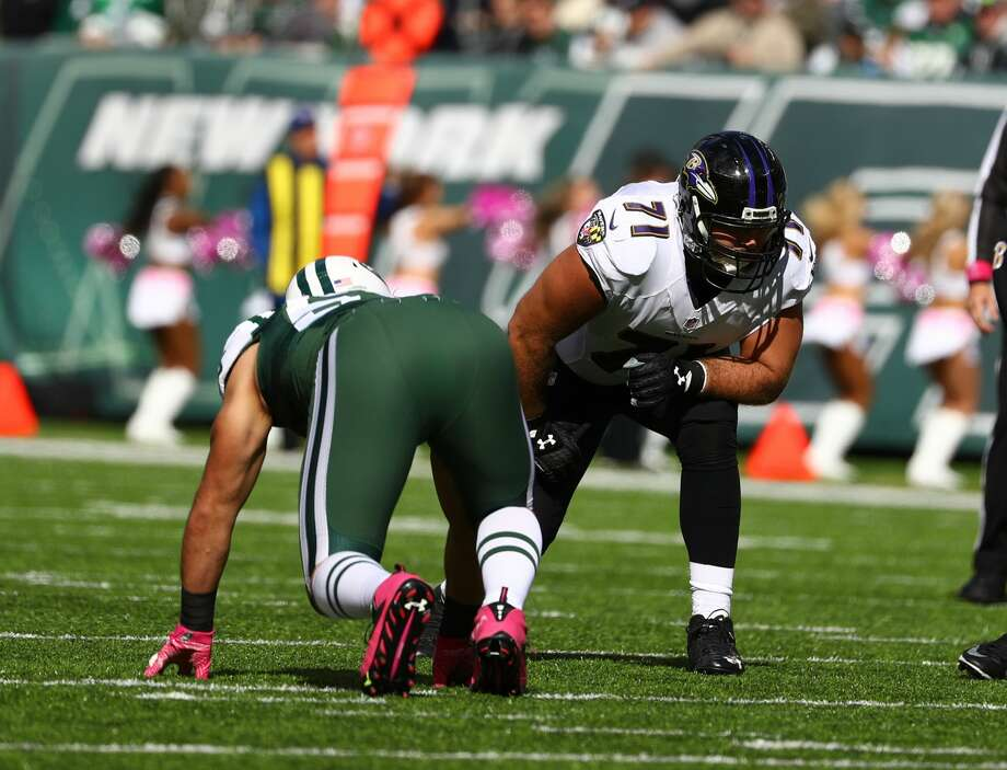 PHOTOS: Browse through the photos for the top available NFL free agentsEAST RUTHERFORD, NJ - OCTOBER 23:  Ricky Wagner #71 of the Baltimore Ravens in action against the New York Jets during their game at MetLife Stadium on October 23, 2016 in East Rutherford, New Jersey.  (Photo by Al Bello/Getty Images) Photo: Al Bello/Getty Images