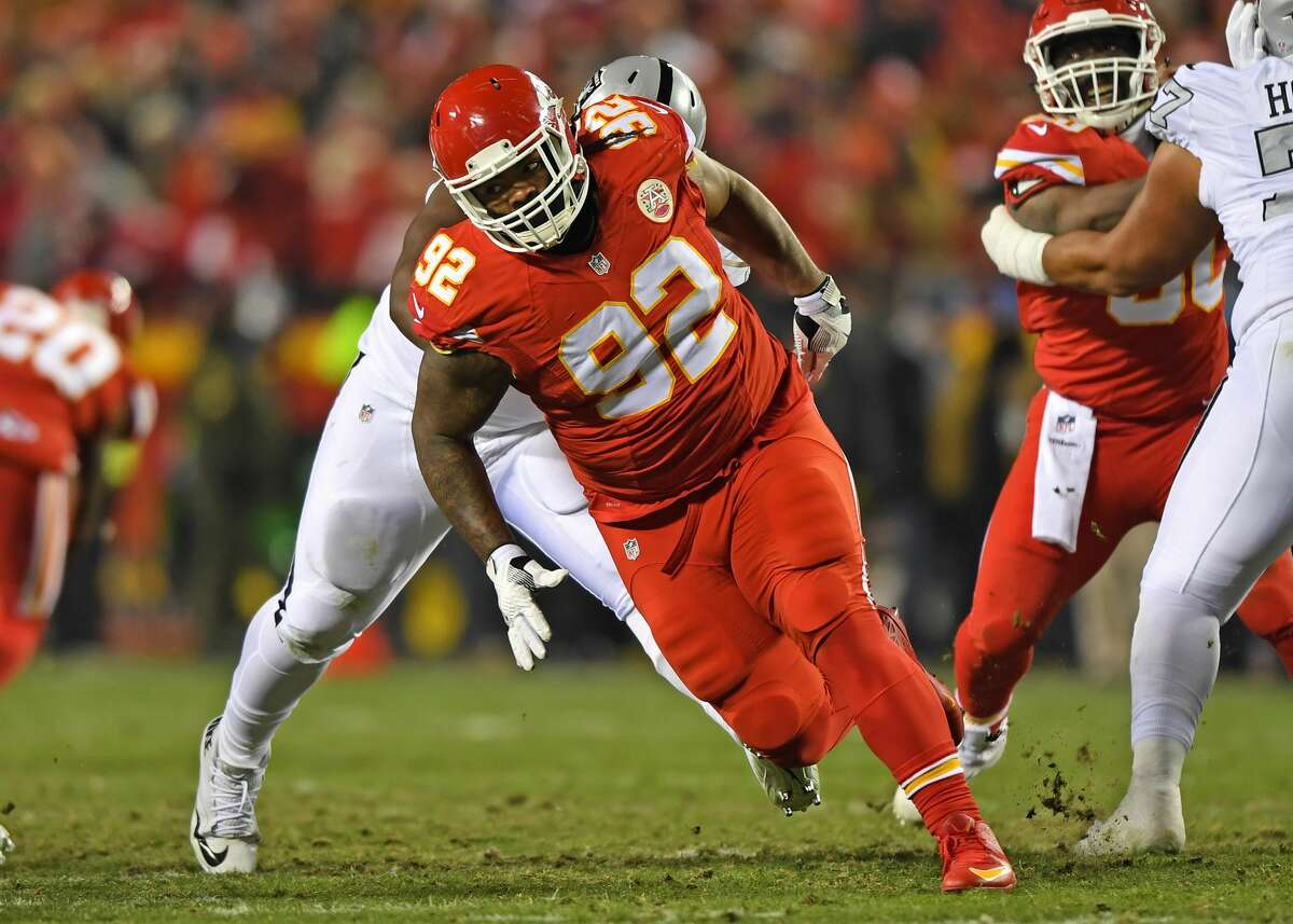 Dontari Poe, DT, Chiefs The Jaguars are reportedly eager to add Poe to their rebuilt defense. Poe is huge at 346 pounds, but he's athletic enough to be used on offense in goalline situations. The Chiefs didn't place the franchise tag on him, so he likely won't return to Kansas City.