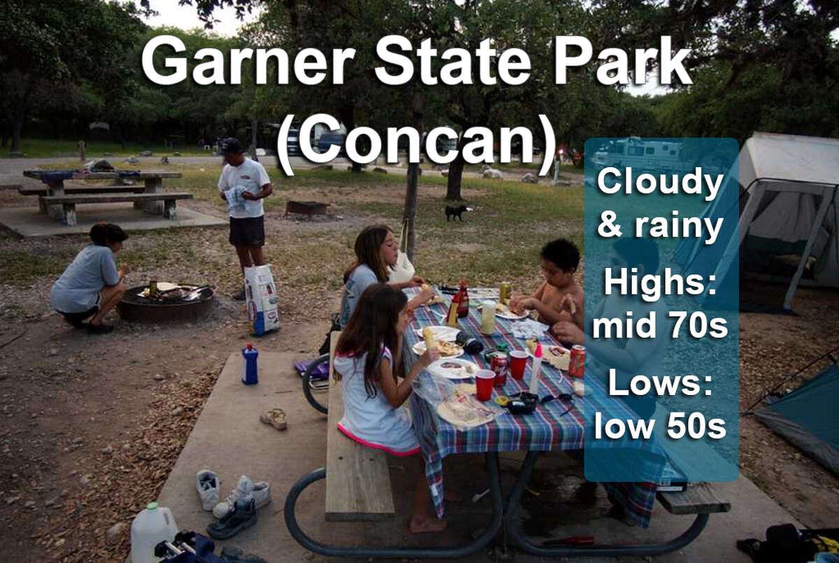 Garner State Park (Concan) General weather outlook for March 11-19, 2017. Fore an up-to-the-minute forecast visit Accuweather.com.
