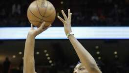Indiana Pacers center Myles Turner (33) shoots against the Miami Heat during the first half of an NBA basketball game, Saturday, Feb. 25, 2017, in Miami. The Heat won 113-95. (AP Photo/Alan Diaz)