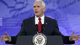 """Vice President Mike Pence speaks during the Conservative Political Action Conference at the Gaylord National Resort and Convention Center Feb. 23 in National Harbor, Maryland. As are many others, Pence is invoking """"freedom"""" to cover a host of sins."""
