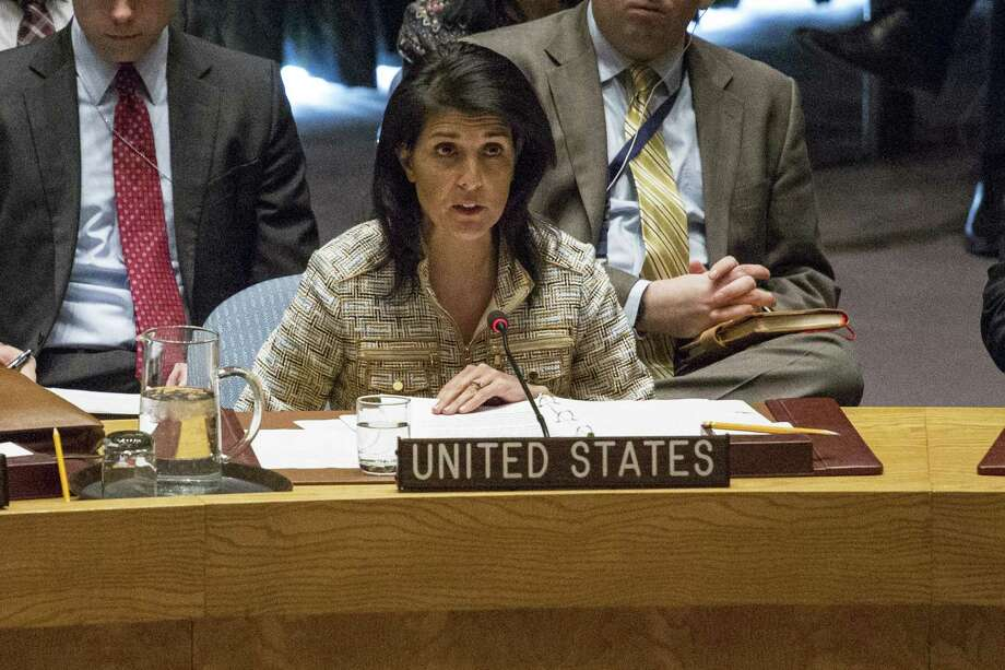 Nikki Haley, the US ambassador to the United Nations, announced on Oct. 