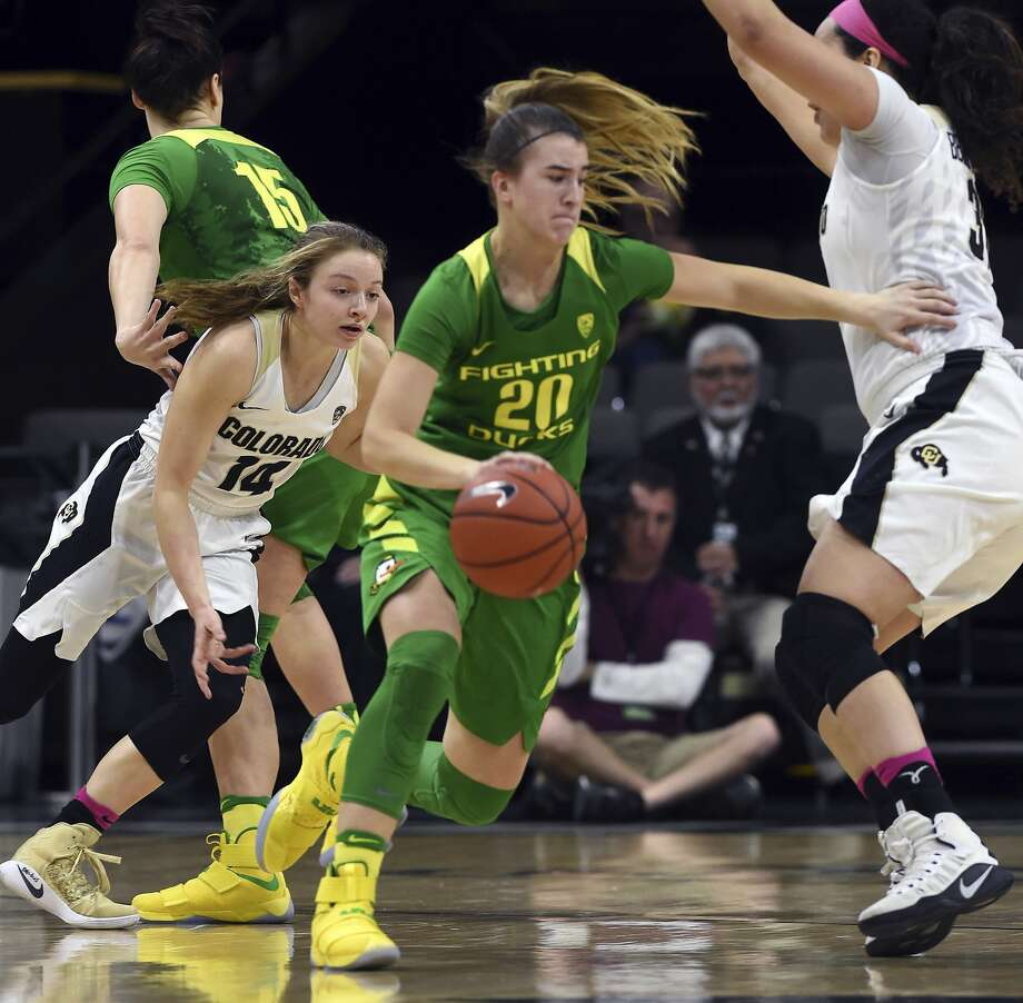 Oregon freshman guard Sabrina Ionescu, twice named The Chronicle's Player of the Year at Miramonte High-Orinda, leads the NCAA in triple-doubles this season with four. Photo: Cliff Grassmick, Associated Press