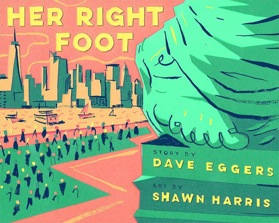 """A cover concept for Dave Eggers' forthcoming book, """"Her Right Foot."""" Photo: Chronicle Books"""