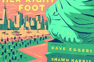 """A cover concept for Dave Eggers' forthcoming book, """"Her Right Foot."""""""