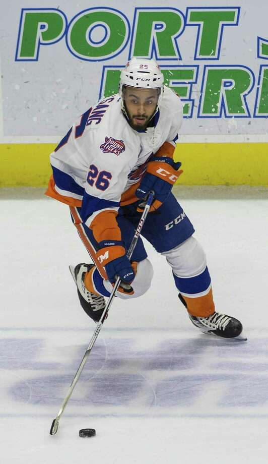 Josh Ho-Sang was recalled to the Islanders on Tuesday, then returned to the Sound Tigers later in the day. Photo: Mark Conrad / For Hearst Connecticut Media / Connecticut Post Freelance
