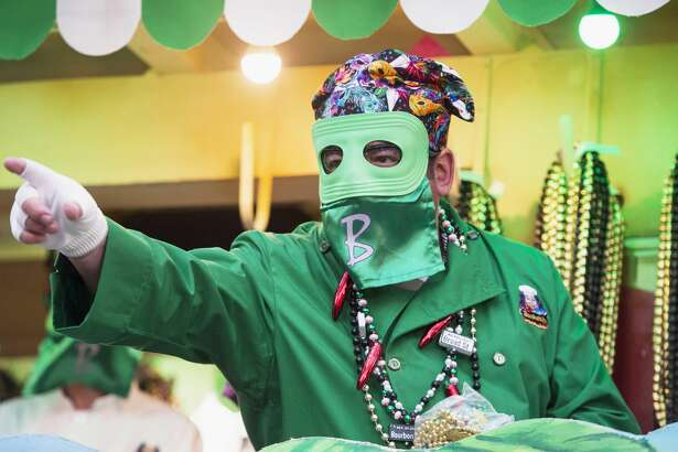 NEW ORLEANS, LA - FEBRUARY 26:  Chef Emeril Lagasse rides in the 2017 Krewe of Bacchus parade on February 26, 2017 in New Orleans, Louisiana.  (Photo by Erika Goldring/Getty Images)