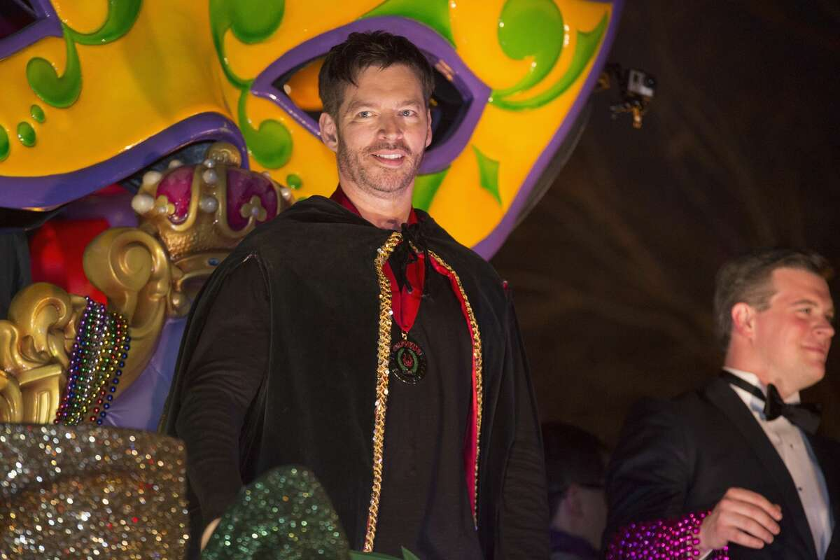 Musician/actor Harry Connick, Jr. rides in the 2017 Krewe of Orpheus Parade on February 27, 2017 in New Orleans, Louisiana.