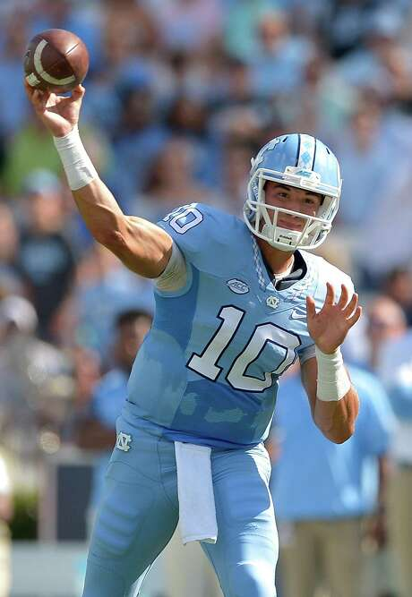 Mitch Trubisky #10 of the North Carolina Tar Heels against the James Madison Dukes during the game at Kenan Stadium on September 17, 2016 in Chapel Hill, North Carolina. Photo: Grant Halverson / Getty Images / 2016 Grant Halverson