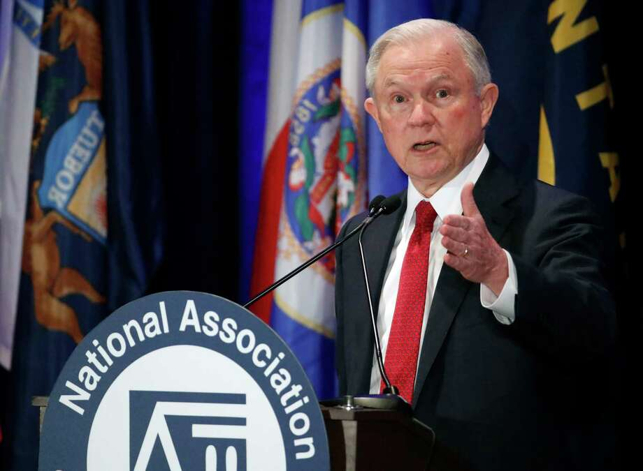 Attorney General Jeff Sessions speaks at the National Association of Attorneys General annual winter meeting, Tuesday, Feb. 28, 2017, in Washington. (AP Photo/Alex Brandon) Photo: Alex Brandon, STF / Copyright 2017 The Associated Press. All rights reserved.