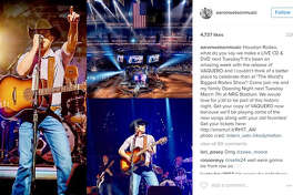 Aaron Watson is filming his RodeoHouston debut for a live CD and DVD. He announced it via his Instagram.