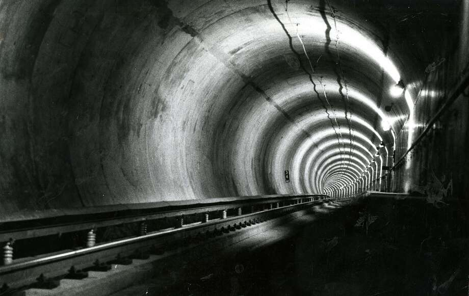 The Transbay Tube served as a backdrop for George Lucas' directorial debut, THX 1138. Photo: Michael Maloney, San Francisco Chronicle