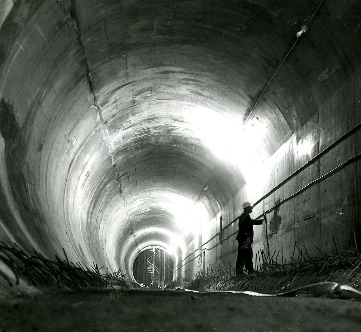 The last tube section of the Transbay Tube was laid down in April of 1969. The first test train wouldn't actually go through the Tube until August of 1973. In August of 1969, with the tube connected but not yet operational, BART allowed the public to