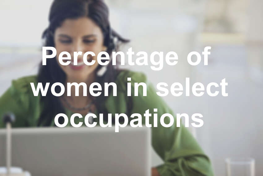 Percentage of women in select occupations