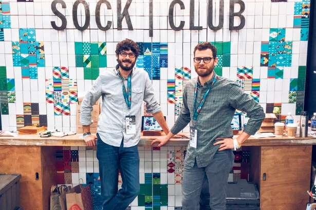 Noah Lee (left) and Dane Jensen, Sock Club cofounders.