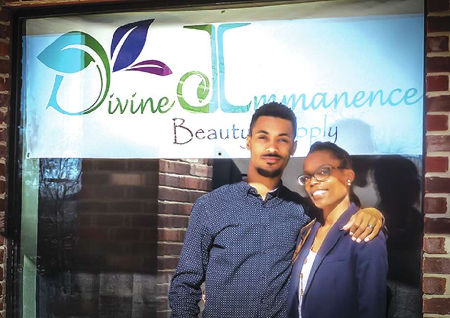 Entrepreneur Breon Green (right), an SIUE grad, and her husband Darrin Green opened her new business, Divine Immanence LLC, in January 21 at 23 Executive Plaza Court in Maryville. Photo: For The Intelligencer