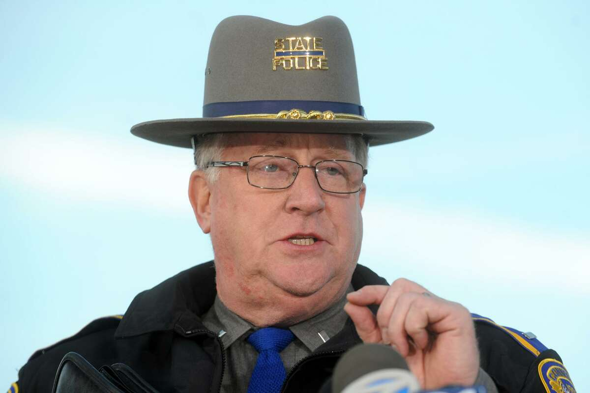 State Police Lt. J Paul Vance speaks at a press conference in Newtown, Conn., following the mass shooting at Sandy Hook Elementary School Dec. 14th, 2012.